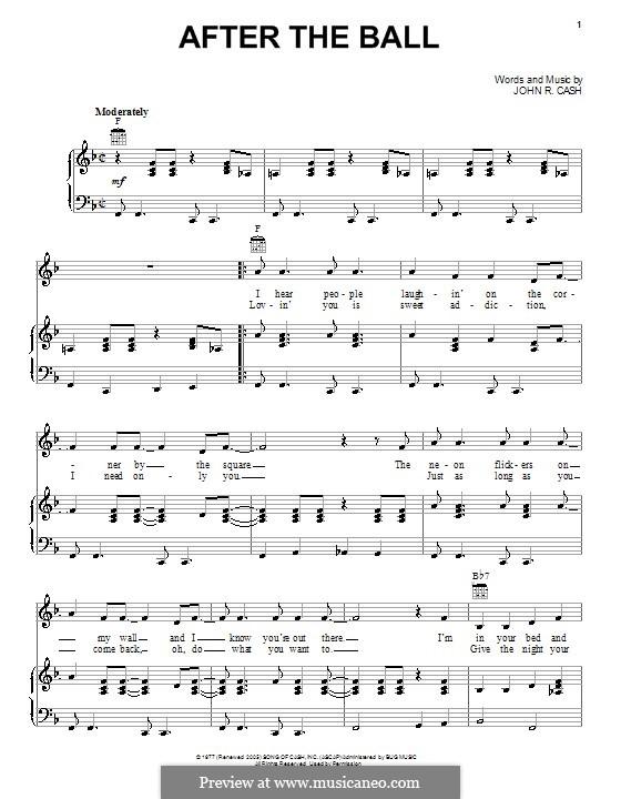 After the Ball: Para vocais e piano (ou Guitarra) by Johnny Cash