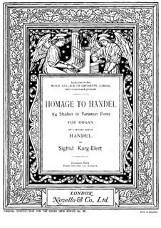 Homage to Handel, Op.75b: Homage to Handel by Sigfrid Karg-Elert