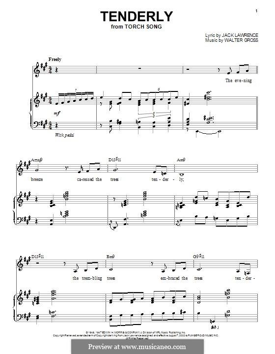 Tenderly: Para vocais e piano by Walter Gross