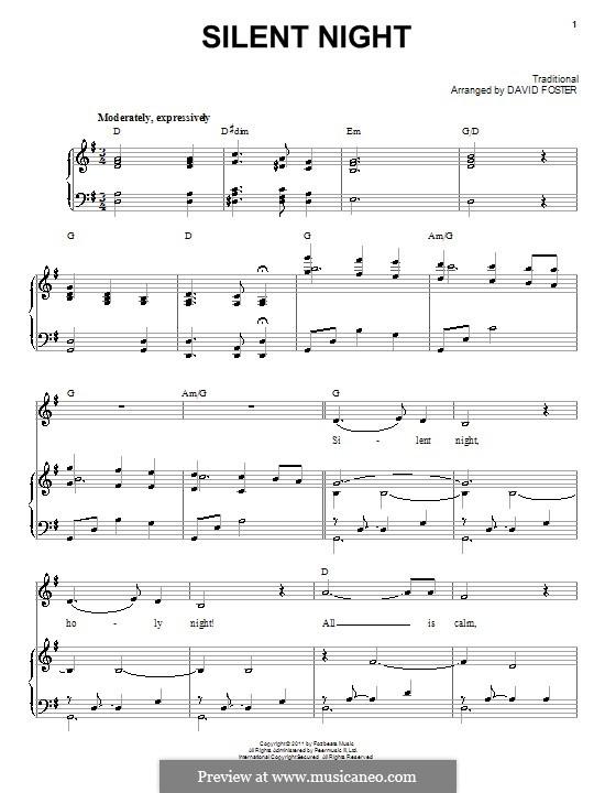 Silent Night: Para vocais e piano by folklore