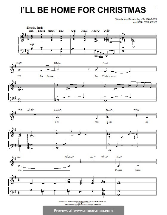 I'll Be Home for Christmas: For voice and piano (Michael Buble) by Kim Gannon, Walter Kent