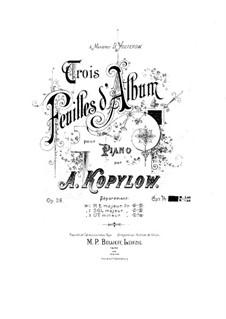 Three Album Leaves, Op.26: set completo by Alexander Kopylov
