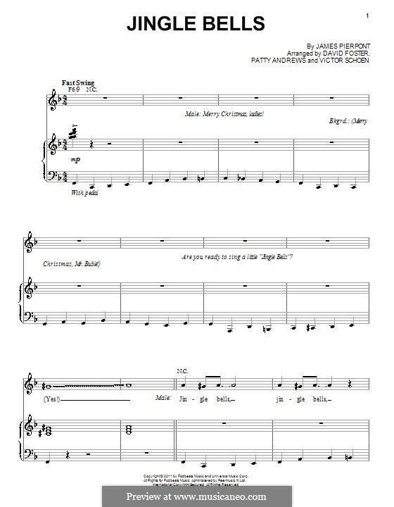 Jingle Bells (Printable scores): Para vocais e piano by James Lord Pierpont