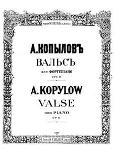 Waltz, Op.6: valsa by Alexander Kopylov