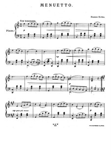 Minuet: Para Piano by Hannes Kotka