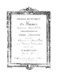 Three Sonatas for Harpsichord (or Piano), Violin and Cello, Op.28: Three Sonatas for Harpsichord (or Piano), Violin and Cello by Leopold Kozeluch