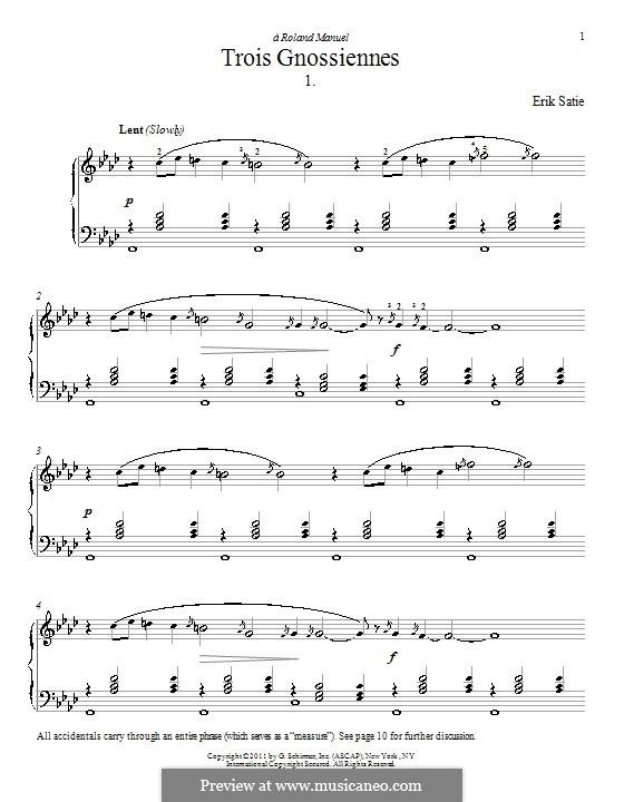 No.1: para piano (com dedilhado) by Erik Satie
