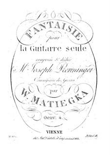 Fantasia in C Major, Op.4: Fantasia em C maior by Wenzel Thomas Matiegka