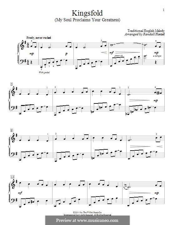 Kingsfold (My Soul Proclaims Your Greatness): Para Piano by folklore