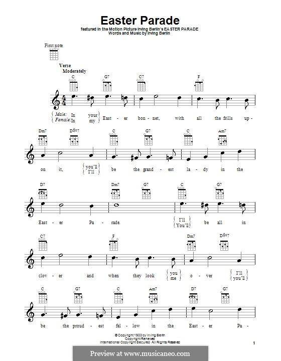 Easter Parade: para ukulele by Irving Berlin