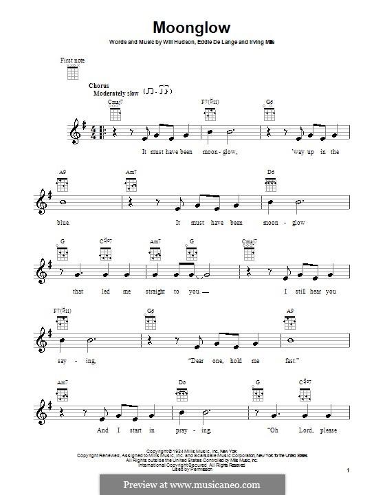 Moonglow: para ukulele by Irving Mills, Eddie De Lange, Will Hudson