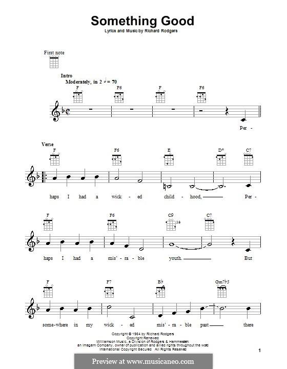Something Good (from The Sound of Music): para ukulele by Richard Rodgers