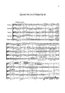 String Quintet No.1 in A Major, Op.18: Partitura completa by Felix Mendelssohn-Bartholdy