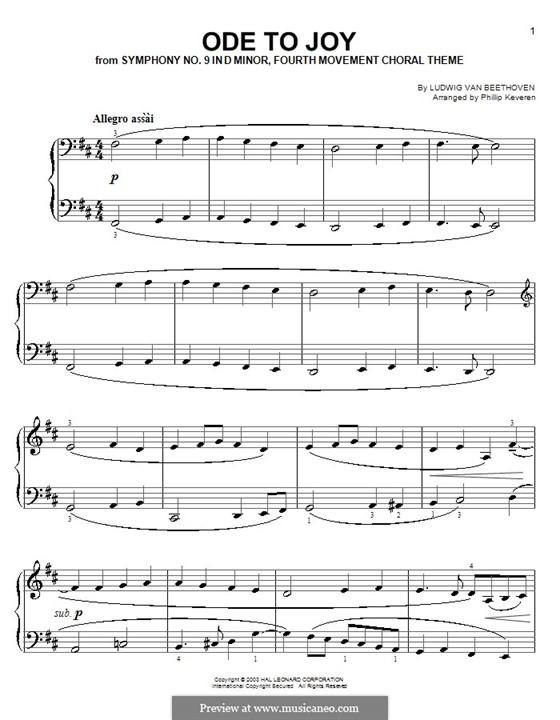 Ode to Joy, for Piano: para um único musico (Editado por H. Bulow) by Ludwig van Beethoven