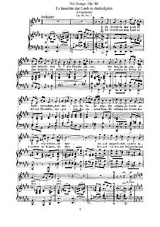Six Songs, Op.86: set completo by Felix Mendelssohn-Bartholdy