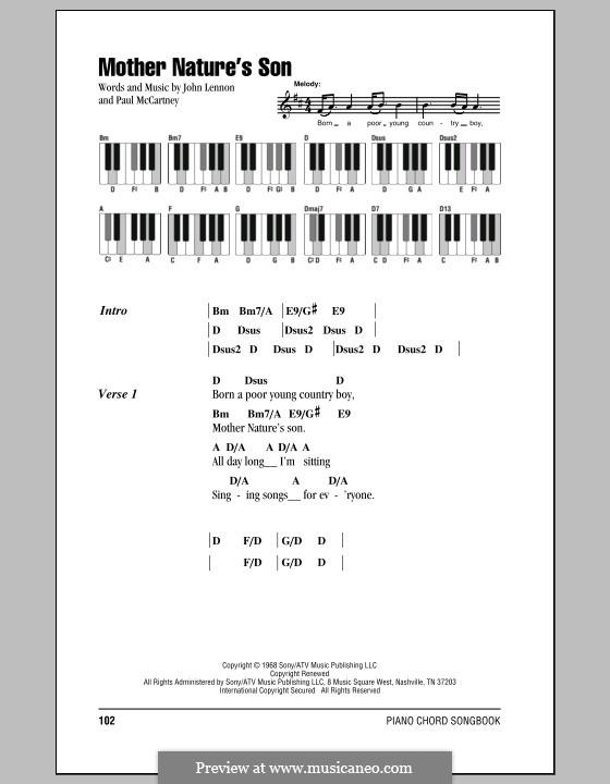 Mother Nature's Son (The Beatles): letras e acordes para piano by John Lennon, Paul McCartney