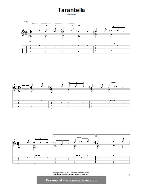 Tarantella Napolitana: Para Guitarra by folklore