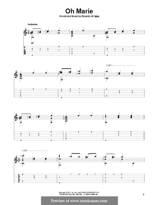 Oh Marie: Para Guitarra by Eduardo di Capua