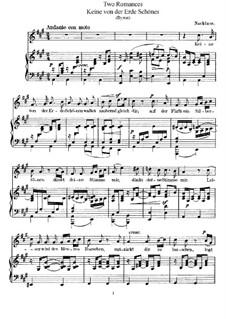 Two Romances, WoO 4: Partitura piano-vocal by Felix Mendelssohn-Bartholdy