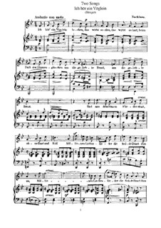 Two Songs, WoO 18: Dua canções by Felix Mendelssohn-Bartholdy