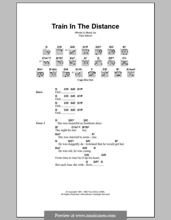 Train in the Distance: Letras e Acordes by Paul Simon
