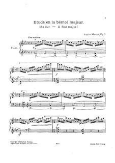 Etude in A Flat Major, Op.9: Etude in A Flat Major by Sophie Menter