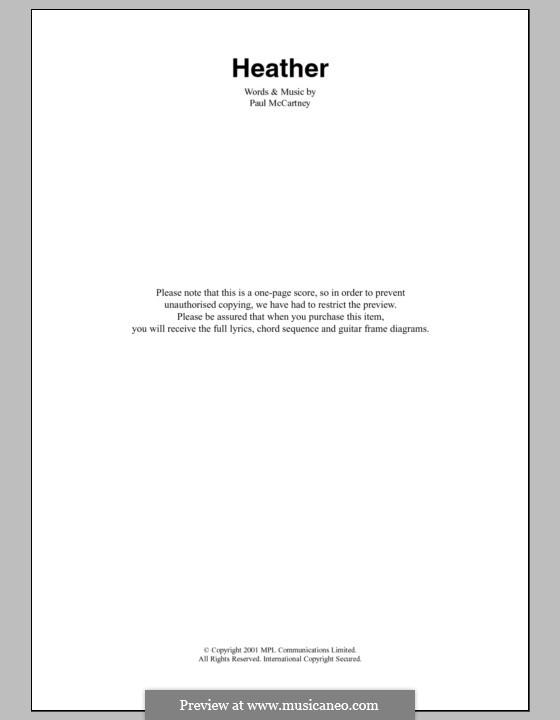 Heather: Letras e Acordes by Paul McCartney