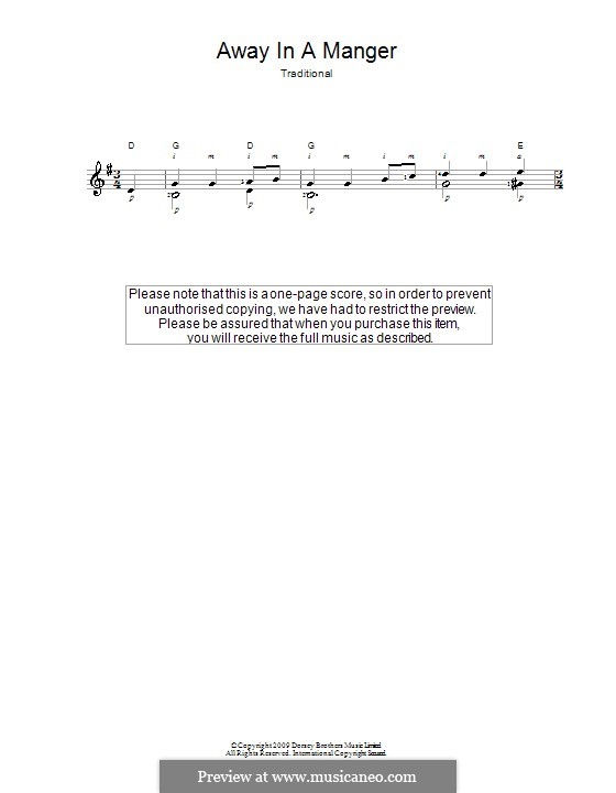 Away in a Manger: Para guitarra (Classical) by William (James) Kirkpatrick