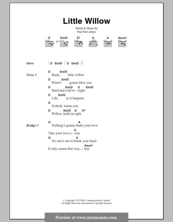 Little Willow: Letras e Acordes by Paul McCartney