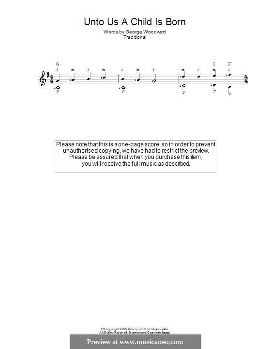 Unto Us a Boy Is Born: Para Guitarra by folklore