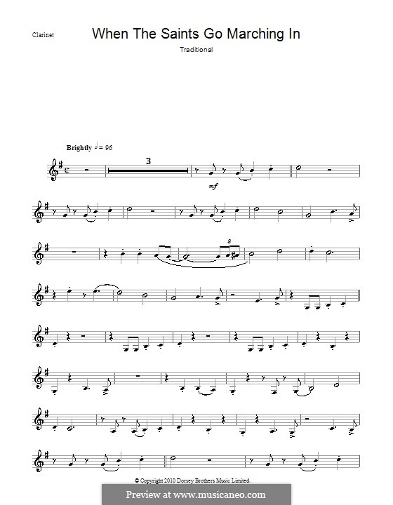 When the Saints Go Marching in: para clarinete by folklore