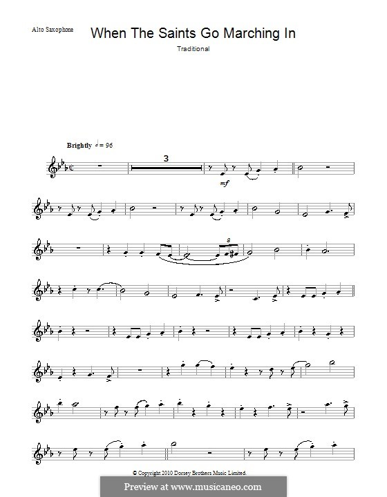 When the Saints Go Marching in: para Saxofone Alto by folklore