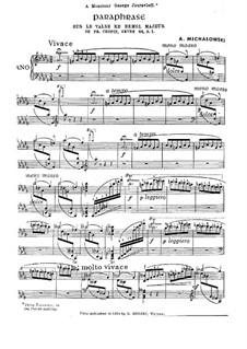 Paraphrase on Waltz in D Flat Major by Chopin, Op.64 No.1: Paraphrase on Waltz in D Flat Major by Chopin by Aleksander Michałowski