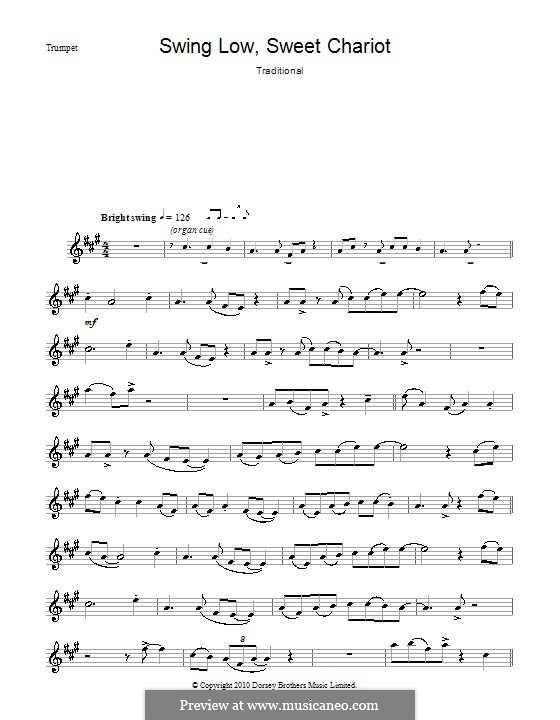 Swing Low, Sweet Chariot: para trompeta by folklore