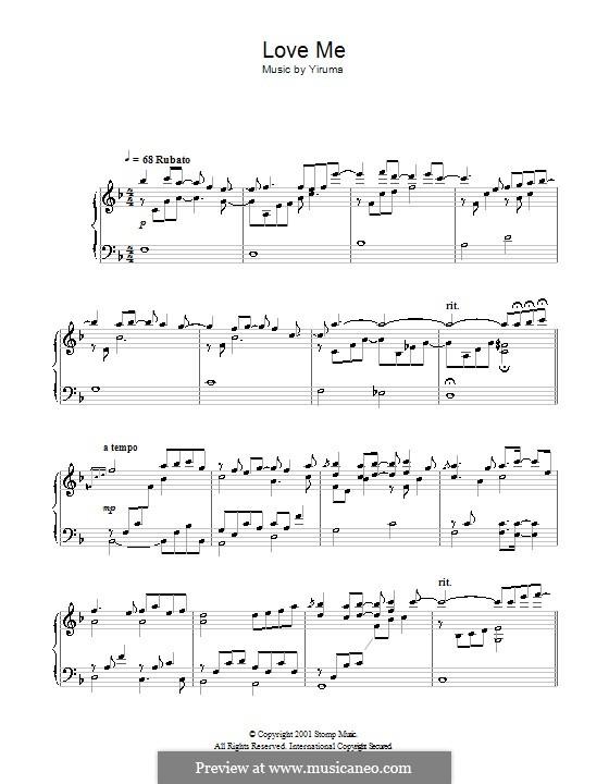 Love Me: Para Piano by Yiruma