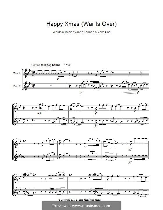 Happy Xmas (War Is Over): para duas flautas by John Lennon, Yoko Ono
