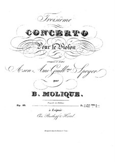 Concerto for Violin and Orchestra No.3, Op.10: Concerto for Violin and Orchestra No.3 by Bernhard Molique