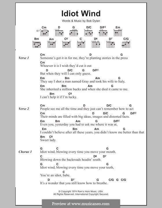 Idiot Wind: Letras e Acordes by Bob Dylan