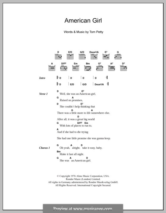American Girl: Letras e Acordes by Tom Petty