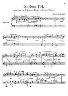 Isolde's Love Death: For piano. Version by Moszkowski by Richard Wagner