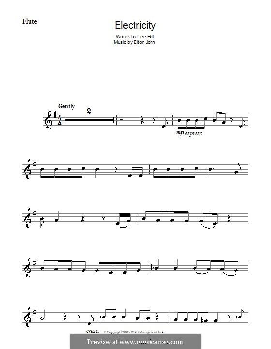 Electricity: para flauta by Elton John