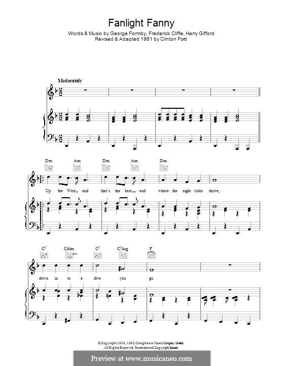 Fanlight Fanny: Para vocais e piano (ou Guitarra) by Clinton Ford, Frederick Cliffe, George Formby, Harry Gifford