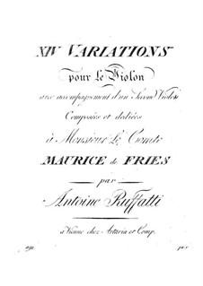 Fourteen Variations: Fourteen Variations by Antonio Ruffatti