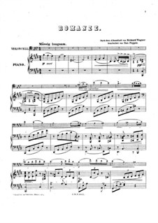 Album Leaf (Romance), WWV 94: para Violoncelo e piano by Richard Wagner