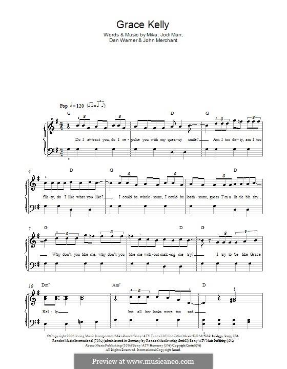 Grace Kelly: Facil para o piano by Mika, Dan Warner, Jodi Marr, John Merchant