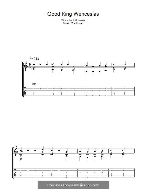 Good King Wenceslas: Para Guitarra by folklore