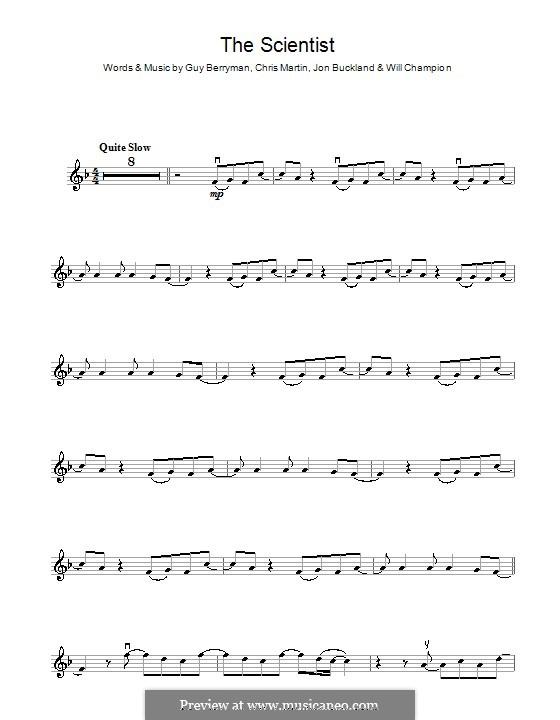 The Scientist (Coldplay): para violino by Chris Martin, Guy Berryman, Jonny Buckland, Will Champion