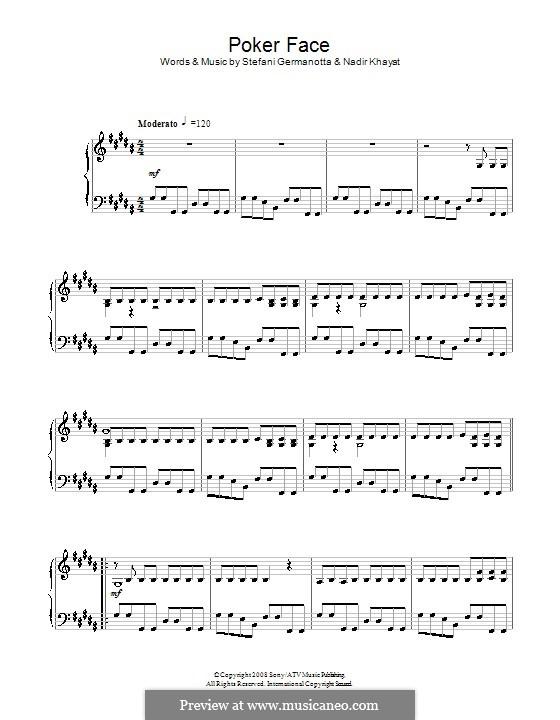 Poker Face (Lady Gaga): Para Piano by RedOne, Stefani Germanotta