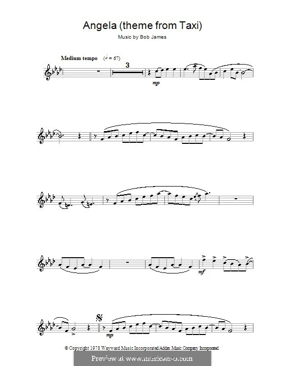 Angela (theme from Taxi): para flauta by Bob James