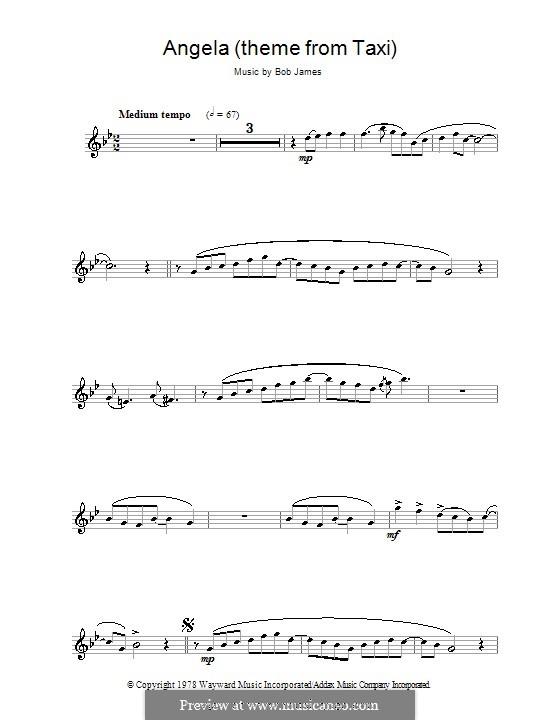 Angela (theme from Taxi): para clarinete by Bob James